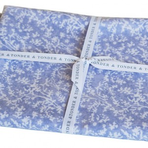 Blue Floral Oilcloth by the metre.