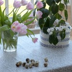 Lavender Stone Oilcloth Tablecloth