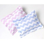 Zig Zag Pillowcase in Blue & Pink