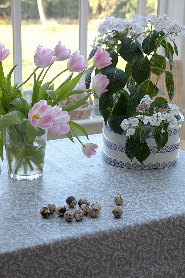 Cotton Lavender Oilcloth Tablecloth